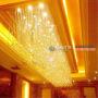 酒店水晶灯、别墅、会所、售楼处工程灯定制