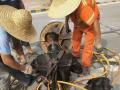 北京工地抽污水