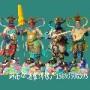佛教佛像批发 树脂四大天王雕像 木雕神像 四大护法神将