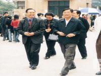 时任 四川省教育厅杨泉明厅长(右二)视察我校