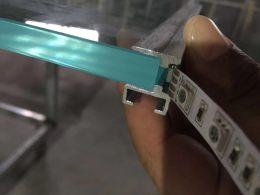 激光内雕玻璃用LED发光灯带配套定制铝型材