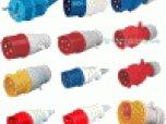 供應黃色、藍色、紅色工業插頭插座