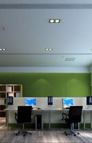 现代办公室装修效图