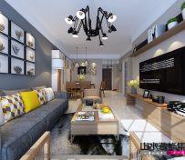 山水装饰两居室简约装修案例效