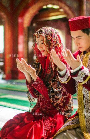 穆斯林婚纱回族婚纱