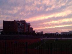 学校傍晚景色