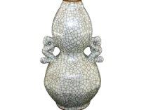 官窑螭龙耳葫芦瓶