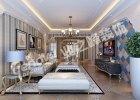 卢浮宫136平米美式风格装修案例