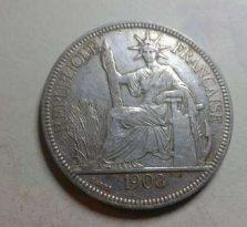 坐洋银币1908年