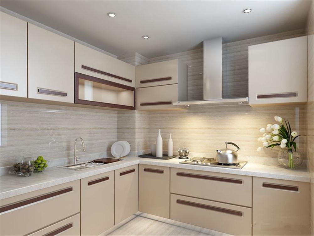 厨房效果图-现代简约风格-石家庄别墅装修-卓达明郡-石家庄实创装饰