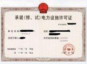 代理电力设施许可证申请