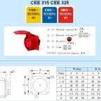 16A-6h工業插頭,插座