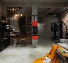 复地山与城装修完工实景丨Loft工业复古风设计方案