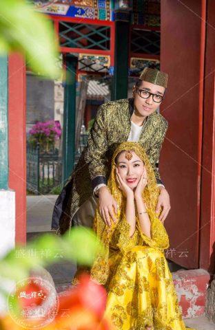 穆斯林回族婚纱照