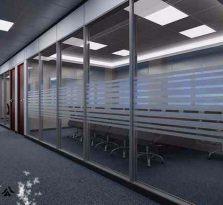 杭州办公室玻璃隔断、百叶帘隔断、隔墙、玻璃隔墙