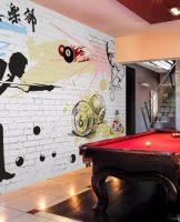 台球厅墙壁画