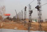 标准6米高角钢格构柱围挡