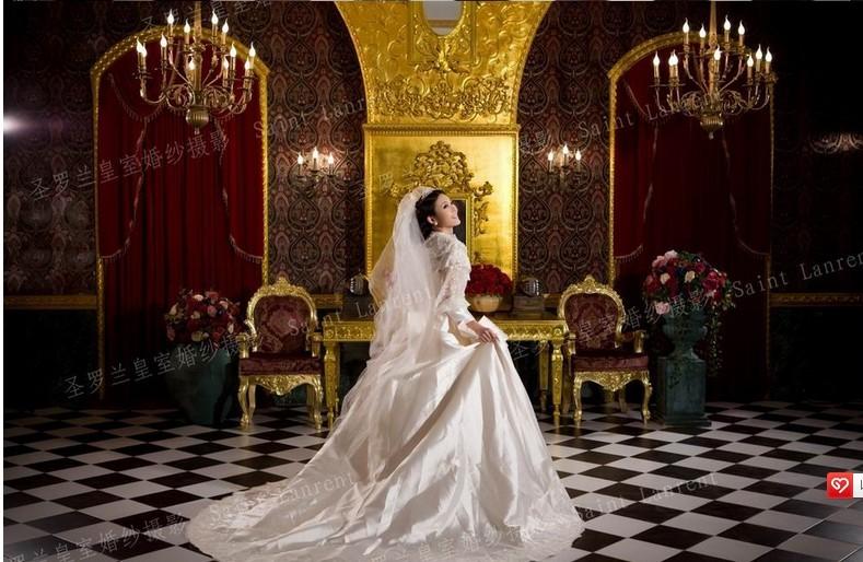 深圳圣罗兰婚纱摄影内景实景棚(教堂欧式风格)