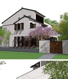 现代中式庭院绿化