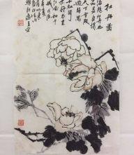 牡丹图字画