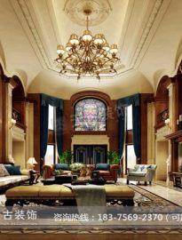 保利高尔夫独栋别墅装修|天古装饰张涛作品|美式