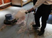 成都双流pvc橡胶地板专业清洗保养公司