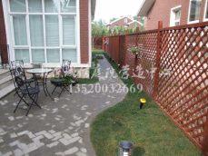 朝阳别墅花园铺装案例,专业花园设计施工公司