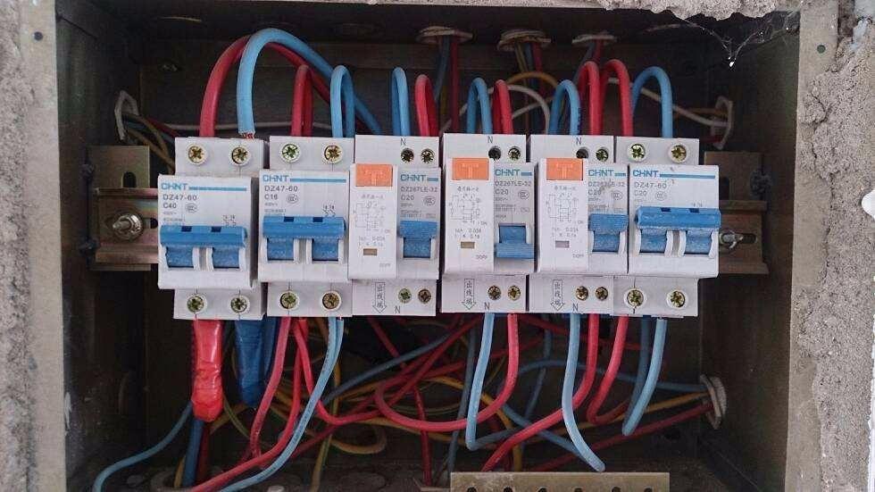 电灯跳闸,维修,换漏电保护器,开关,空气开关,电闸,保险丝,日常电路