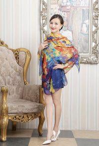 杭州女装拍摄时尚丝巾模特拍摄