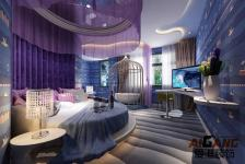 重庆情侣主题酒店设计 情侣宾馆装修 重庆爱港装饰