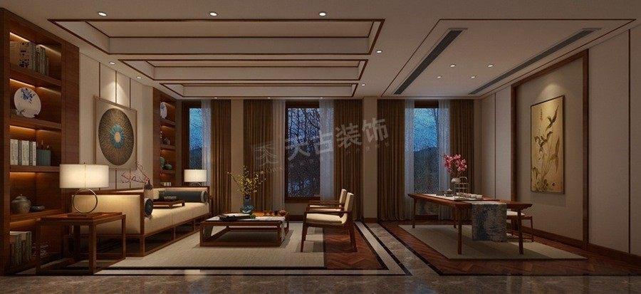 天古装饰|天古装饰设计师|别墅装修公司|休闲会客区域效果图