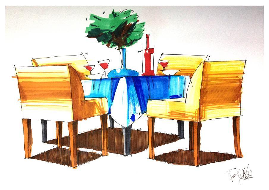 上海室内手绘培训|手绘效果图,手绘施工图