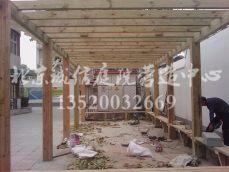 顺义防腐木花架施工 专业花园设计施工公司