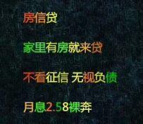 南京专业以房进件 2.58裸
