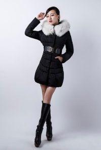 杭州女装拍摄羽绒服棚内模特拍摄