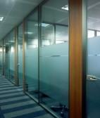 单层玻璃间隔墙 高隔间墙 玻璃隔断