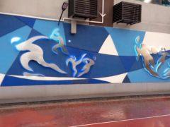 二十二中学艺术外墙
