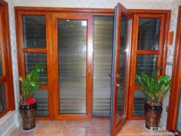 天津红橡木铝包木门窗