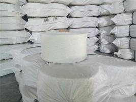 仿大化涤纶纱,本白气流纺高强纱线,环锭自落电清无接