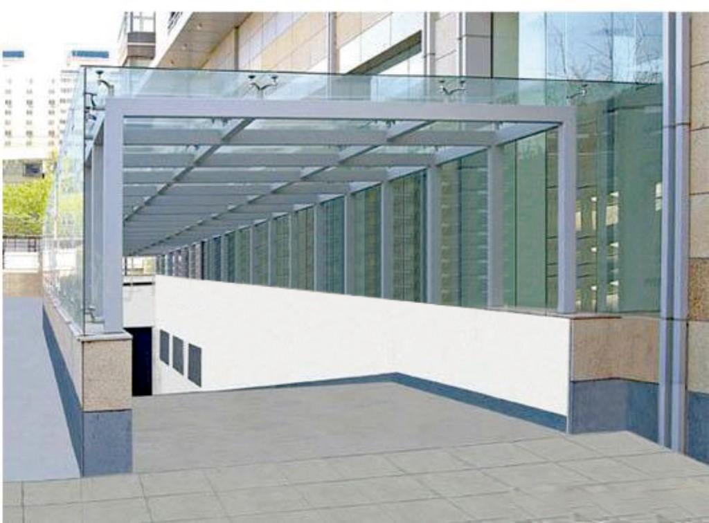 供应广州钢结构玻璃雨棚