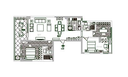 合肥绿城玫瑰园140平户型设计图