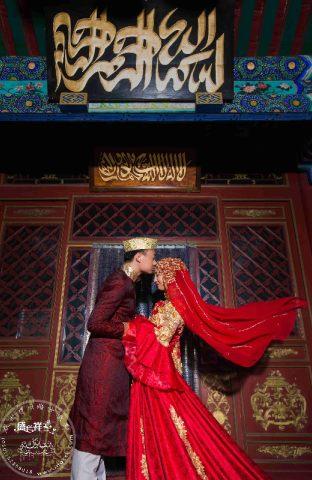 伊斯兰回族婚纱