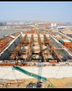 建设中的长江四桥
