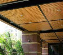 博岭生态木吊顶效果图 长城板