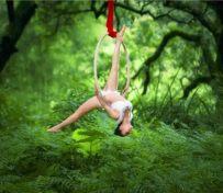 绸缎舞 吊环舞
