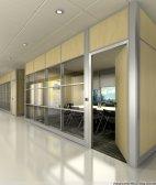 双层板间隔墙 铝合金隔断 饰面板隔墙