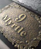 铜板做旧仿古标牌不锈钢标识制作铜板不锈钢雕刻标牌