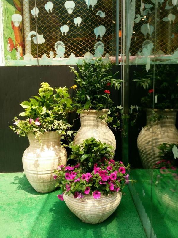 张江庭院绿化-欧式花坛组合