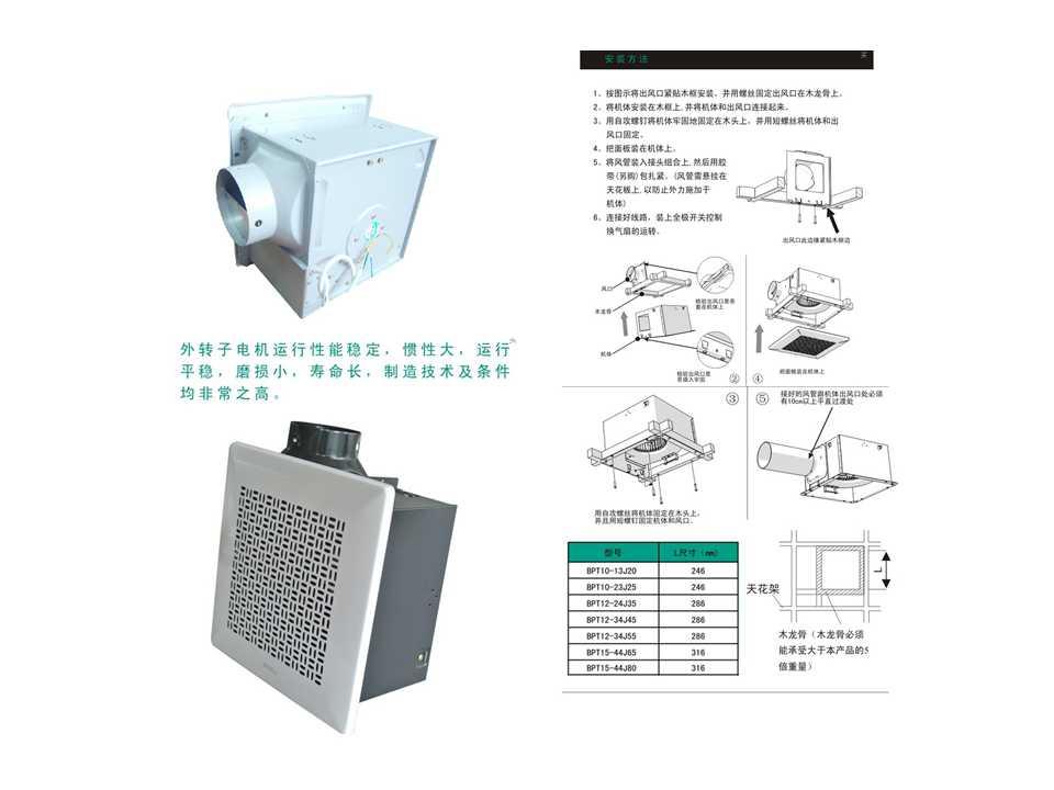 绿岛风排气扇全金属管道系列bpt20-56-d