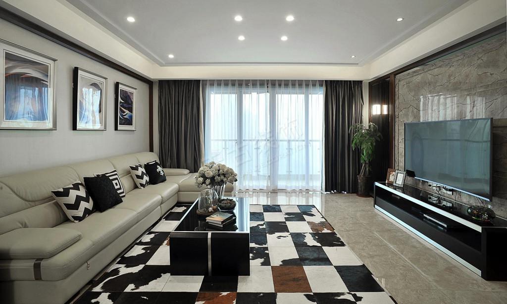 主卧室元素:牛皮床,硬包,木地板,灰镜,定制线条,墙纸.